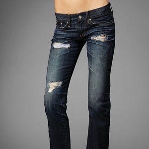 Super cute AG patch tomboy boyfriend fit jeans